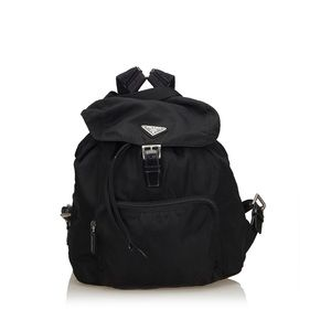 Prada Drawstring Nylon Backpack